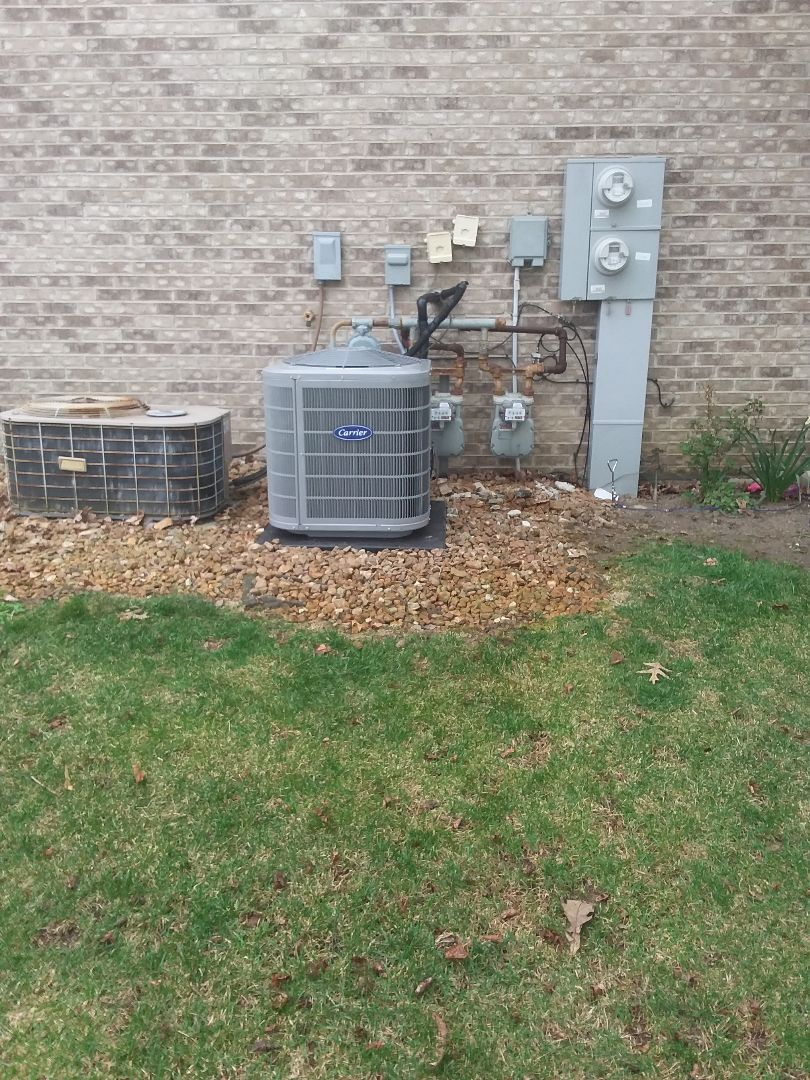 Joliet, IL - Installation of Carrier Air Conditioner