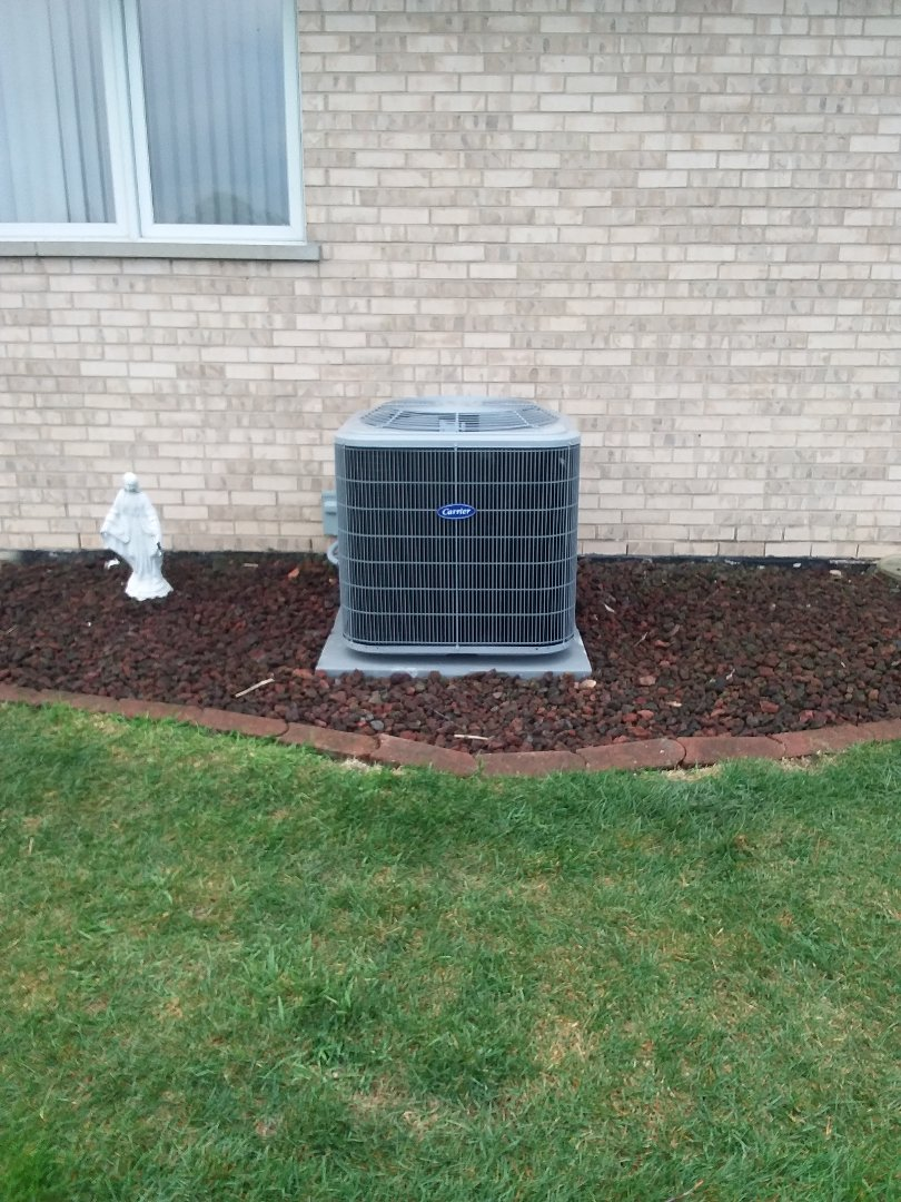 Mokena, IL - Installation of Carrier Air Conditioner