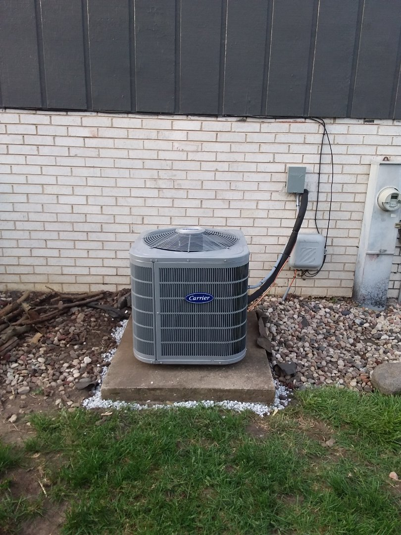 Midlothian, IL - Installation of carrier furnace air conditioner