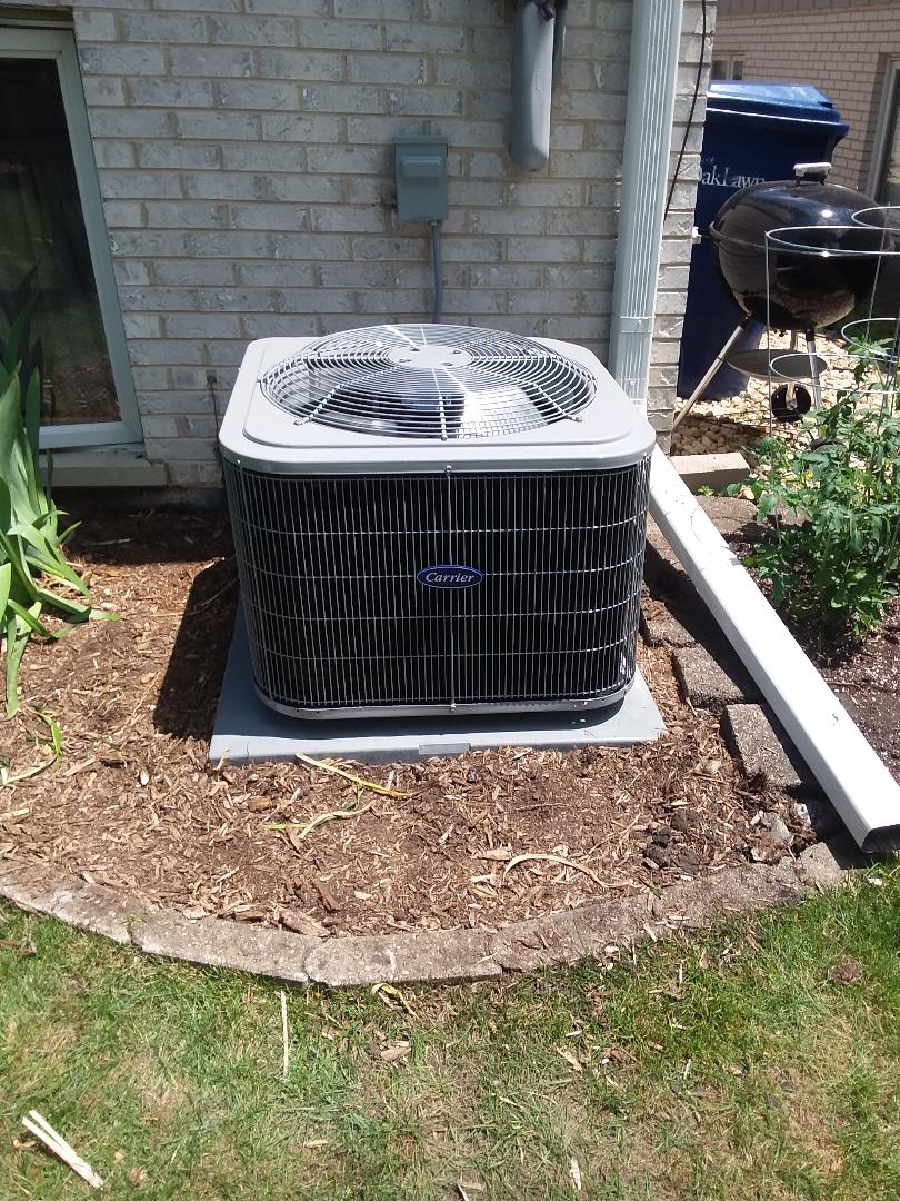 Oak Lawn, IL - Installation of Carrier Air Conditioner