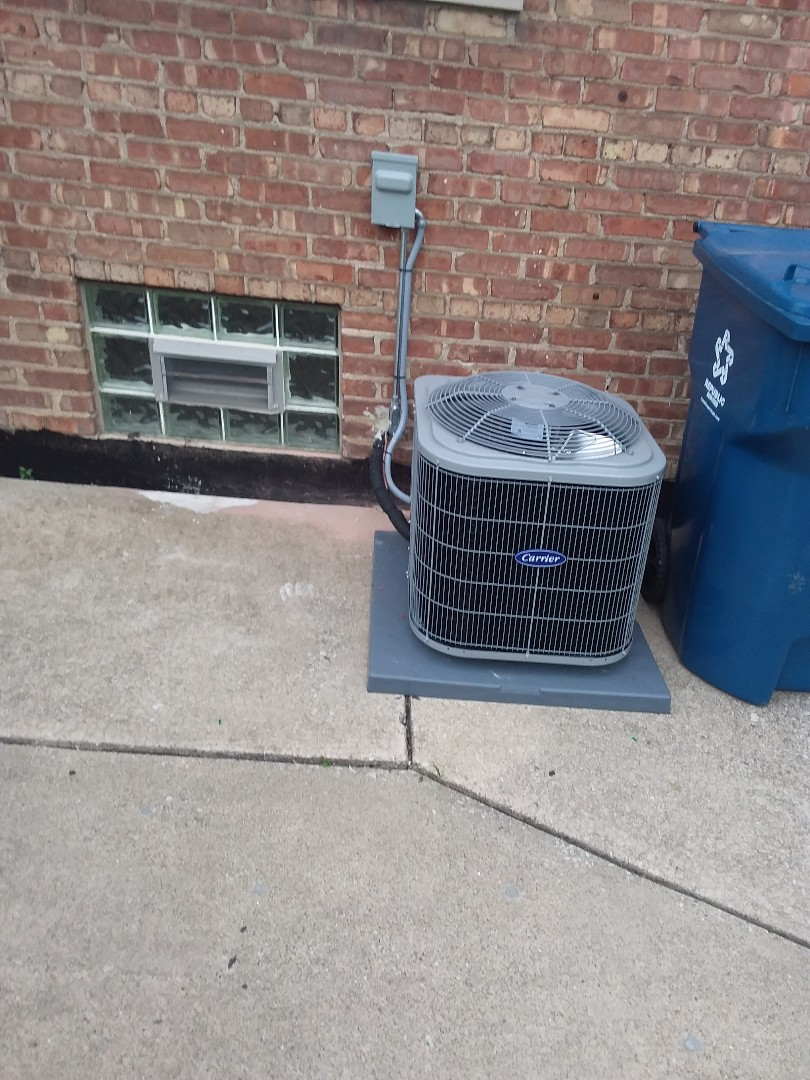 Calumet City, IL - Installation of Carrier Air Conditioner