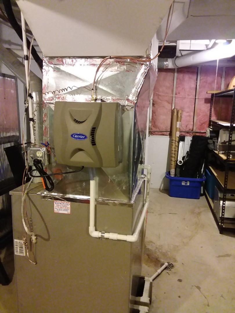 Willow Springs, IL - Installing new humidifier