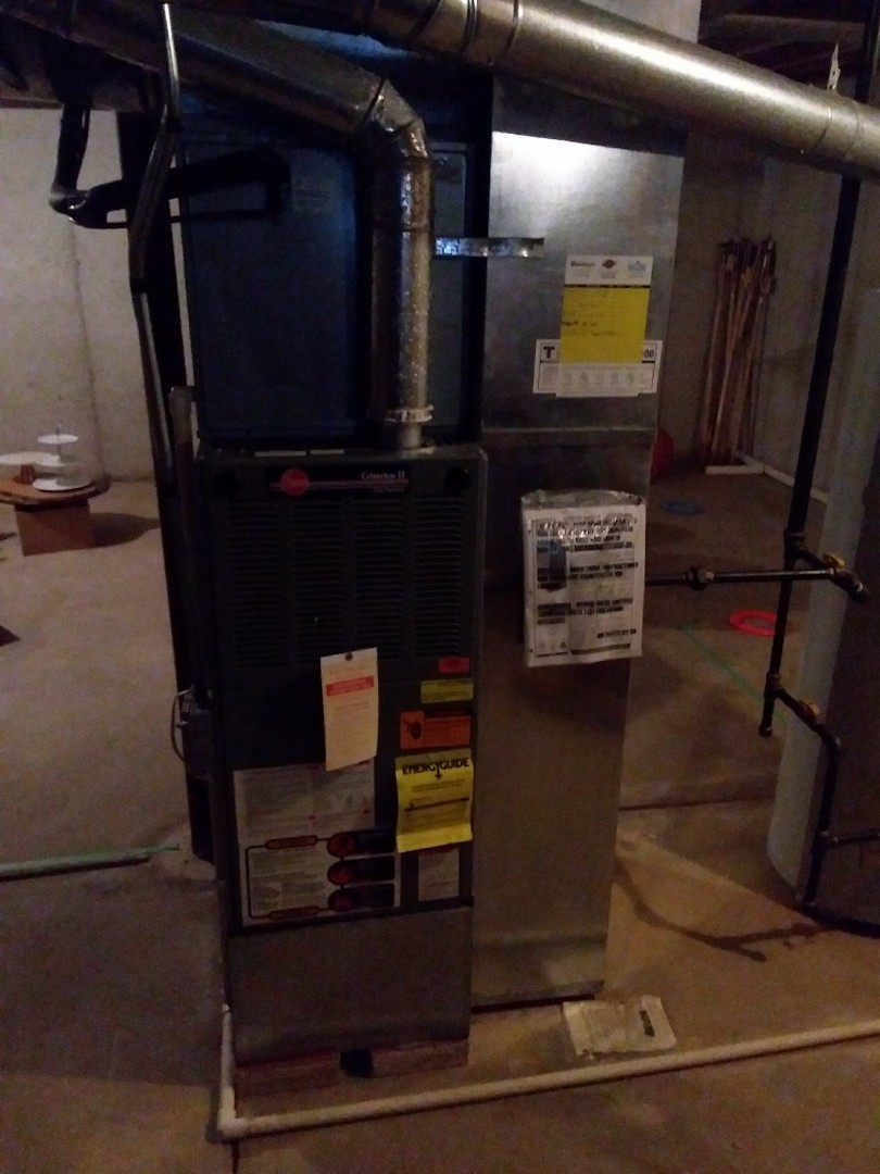 Bolingbrook, IL - Install new carrier furnace replace old rheem furnace