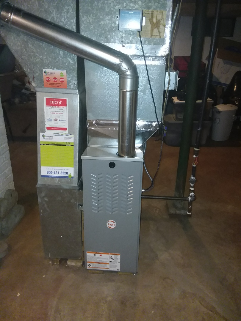 Joliet, IL - Replacement of Goodman installation of Payne furnace