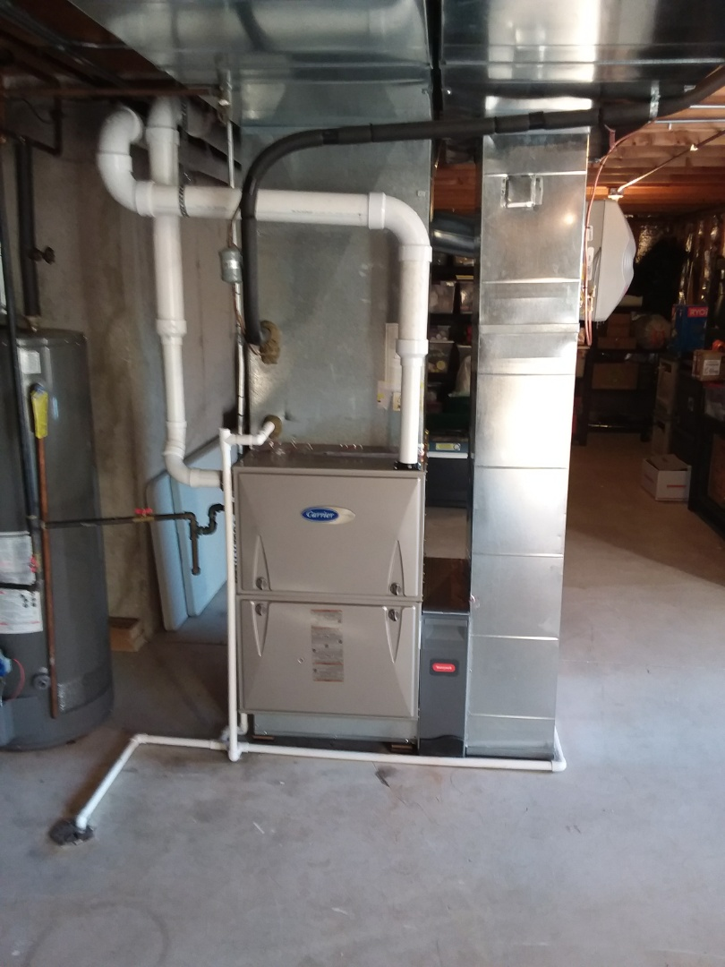 Homer Glen, IL - Installing new carrier furnace replacing old carrier furnace