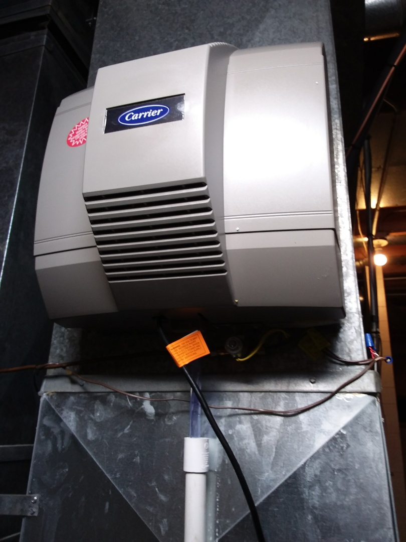 Frankfort, IL - Installation of carrier humidifier replacing  old aprilare humidifier