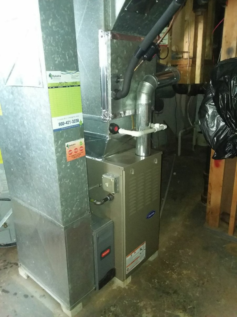 Harvey, IL - Carrier furnace installation. Replacing Carrier furnace.