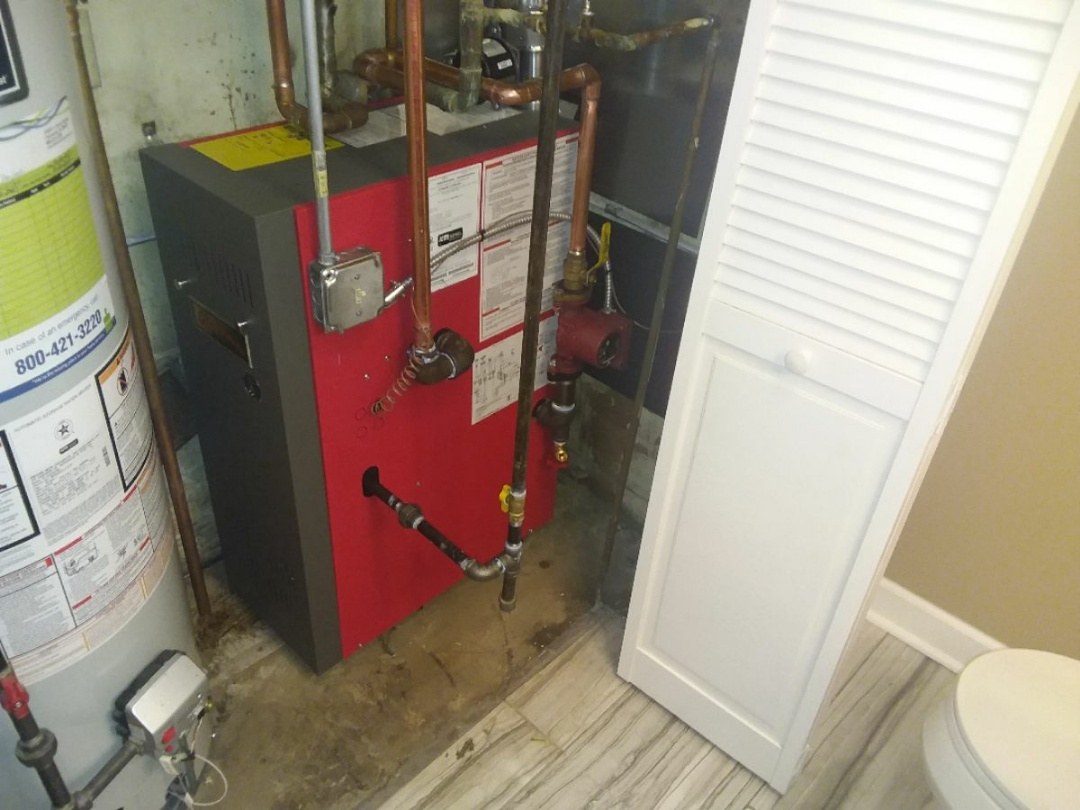Dolton, IL - Installation of a crown boiler.