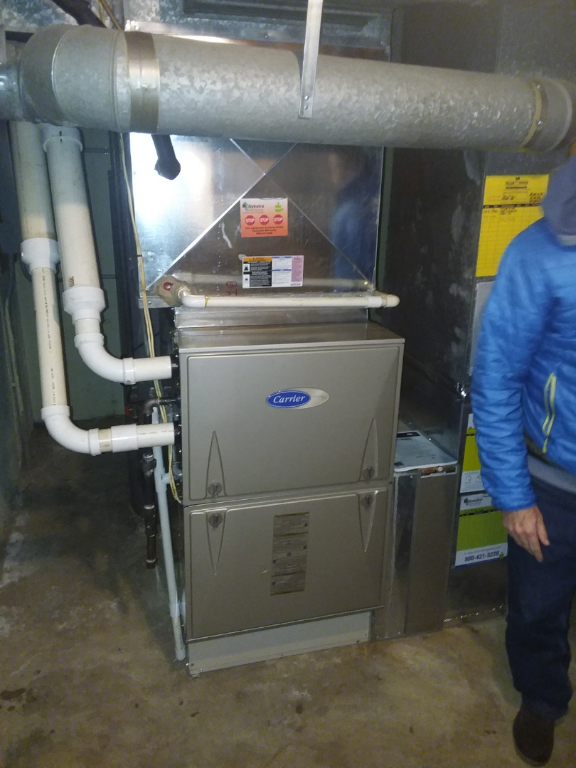 Downers Grove, IL - Replacement of American standard furnace installation of carrier