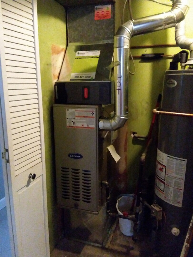 Robbins, IL - New carrier furnace installation