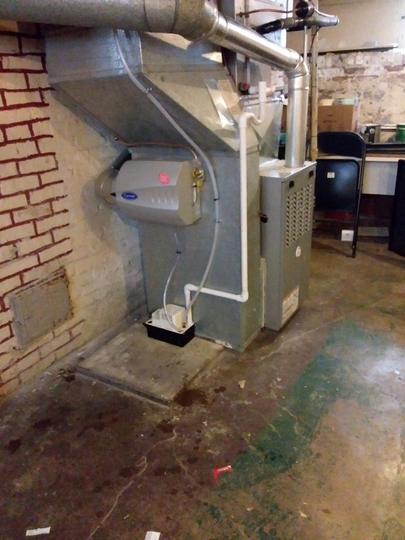 Evanston, IL - Carrier humidifier installation