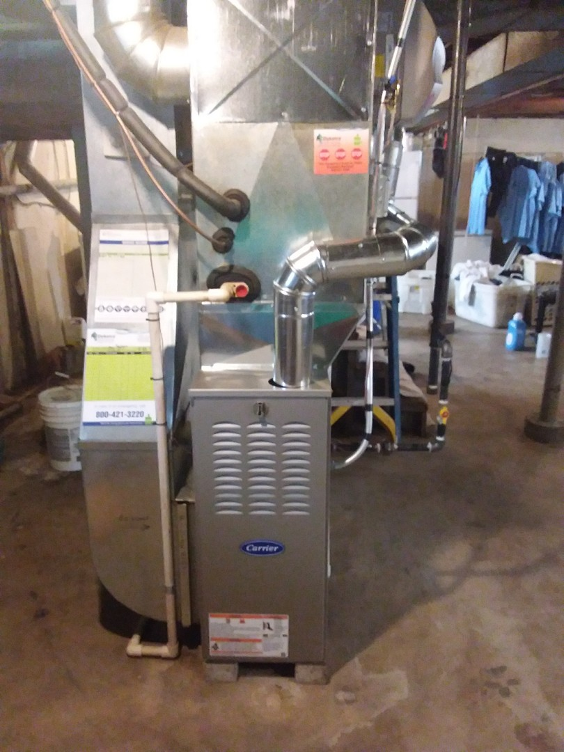 Hazel Crest, IL - Installation of new carrier furnace replacing old carrier furnace