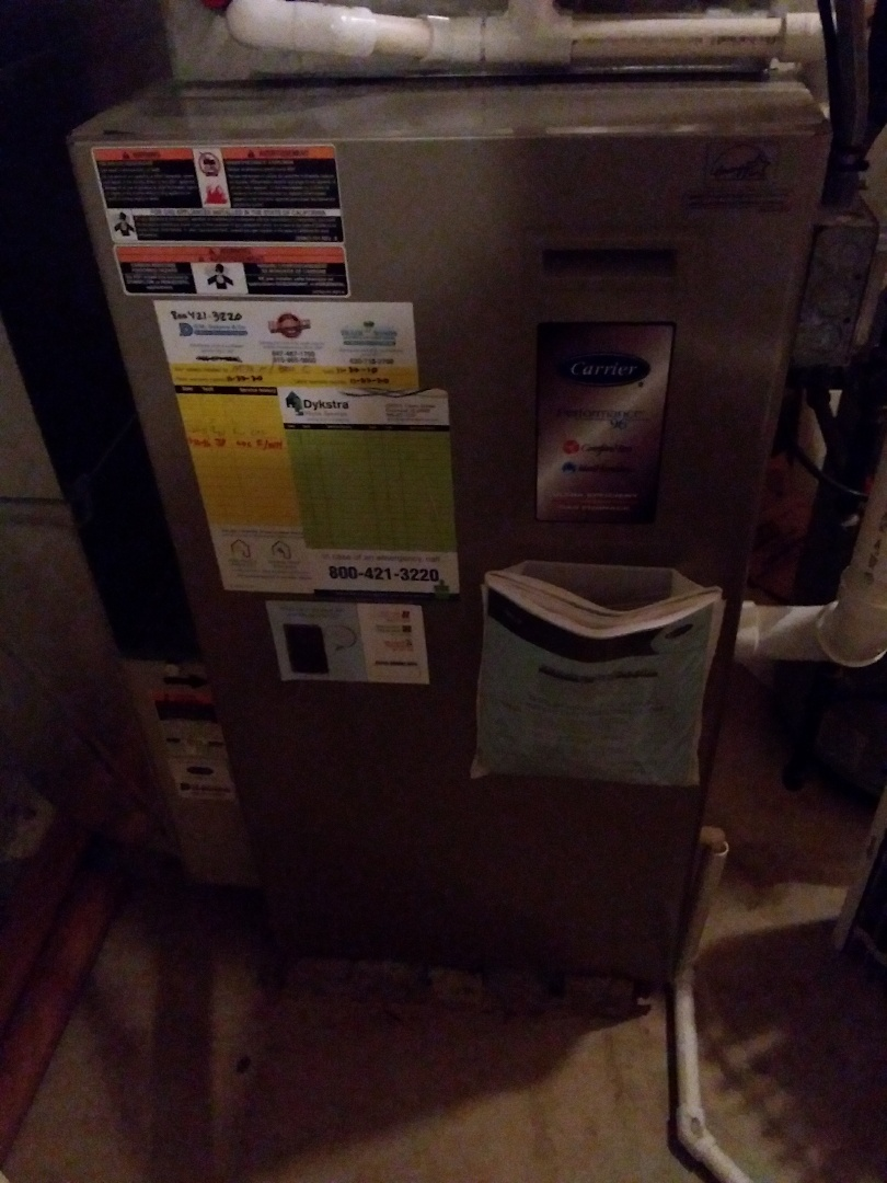 New Lenox, IL - Carrier furnace heating maintenance and repair.