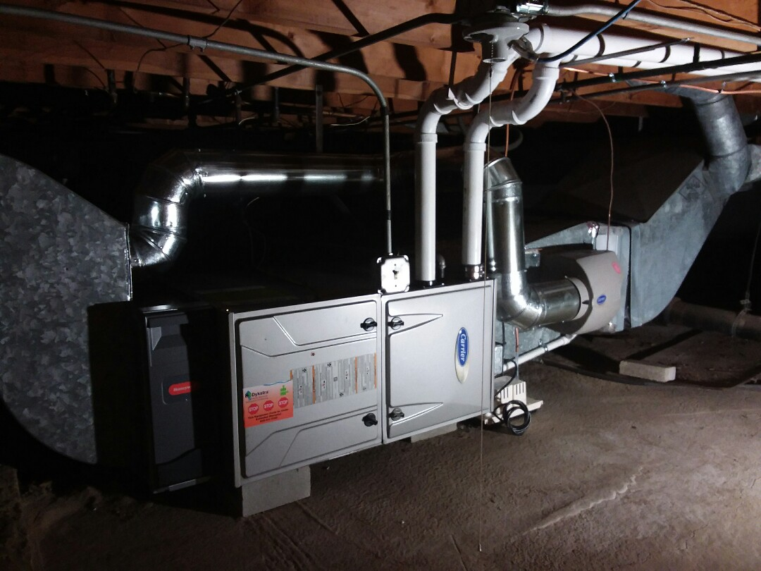 South Holland, IL - New high efficiency carrier furnace install