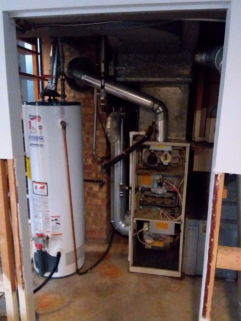 Brookfield, IL - Installing new Payne furnace replacing old carrier