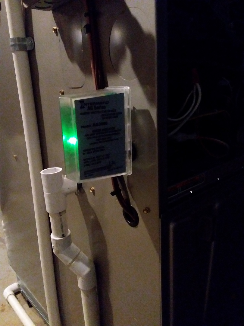 Naperville, IL - Installed surge protector on carrier furnace