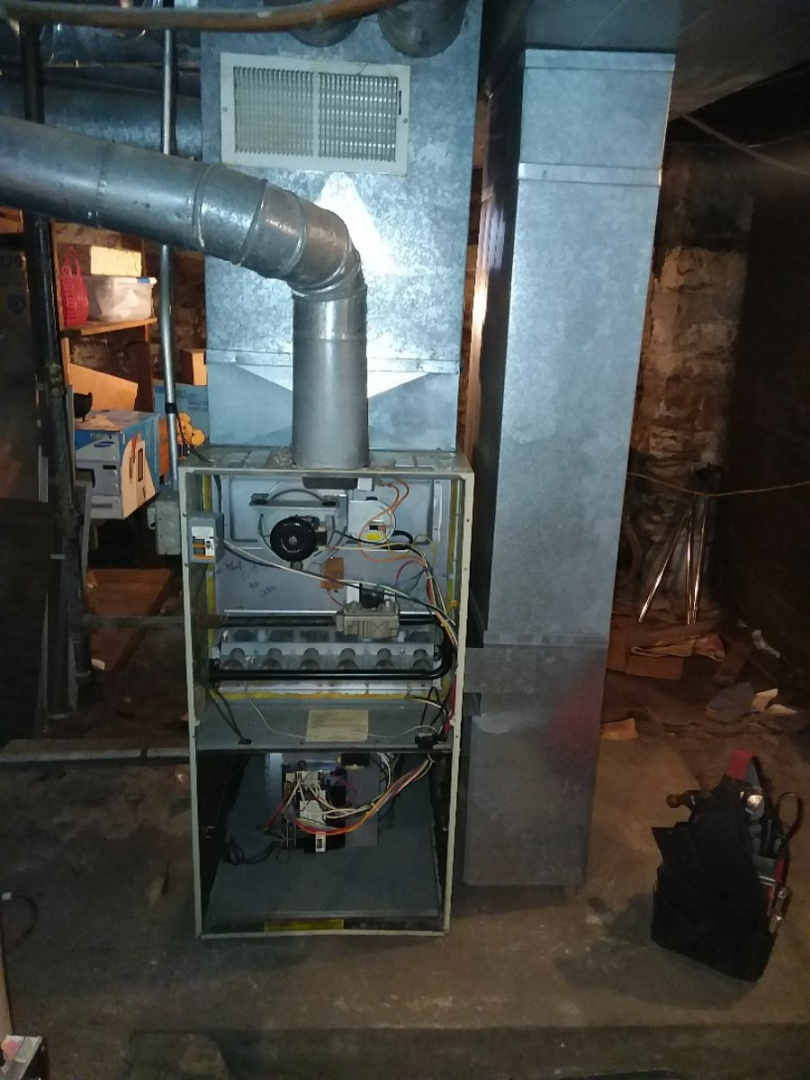 Joliet, IL - Installing new carrier furnace replacing old carrier