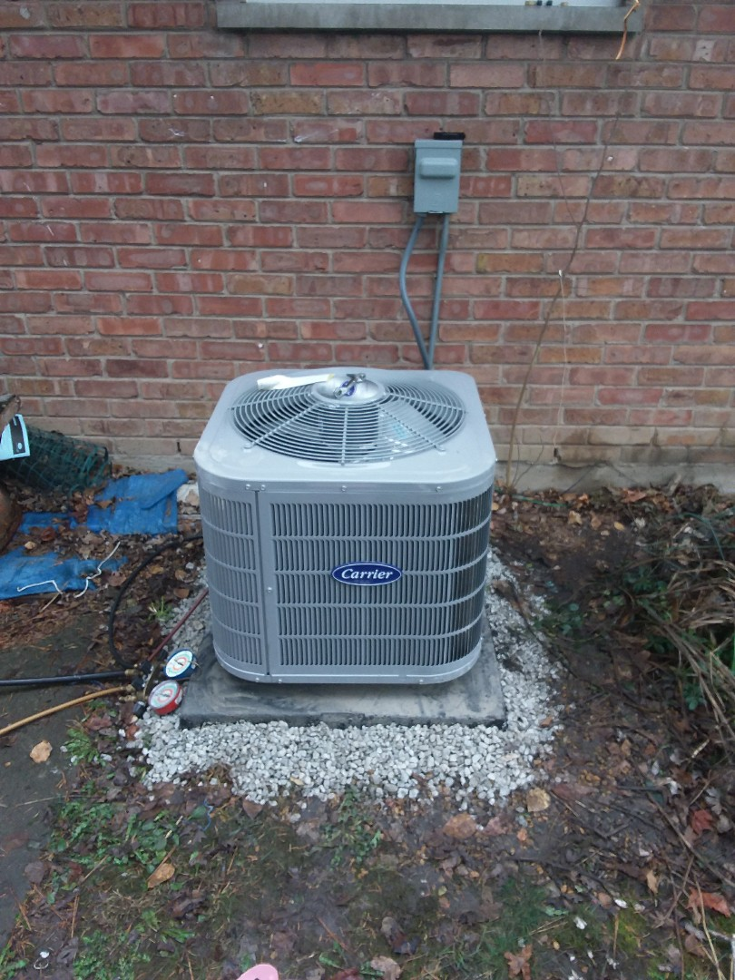 Markham, IL - Installation of a carrier condenser a.c. unit