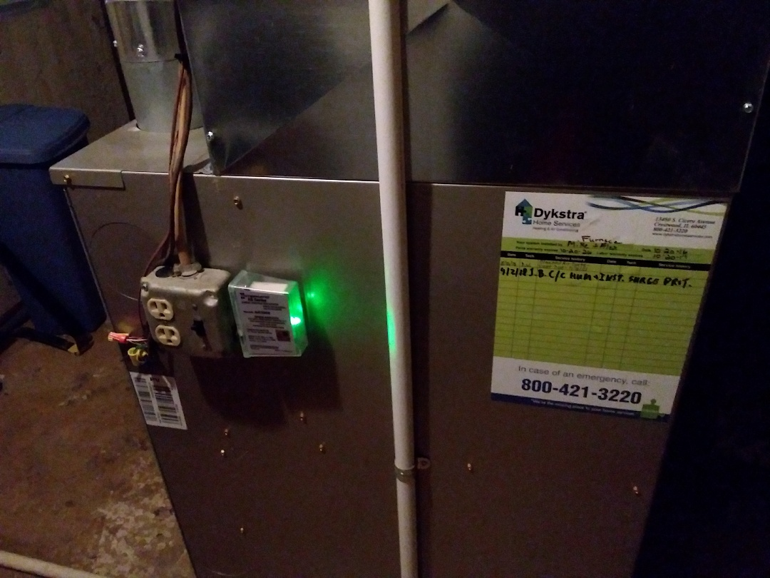 Bolingbrook, IL - Installed surge protector and repair water leak