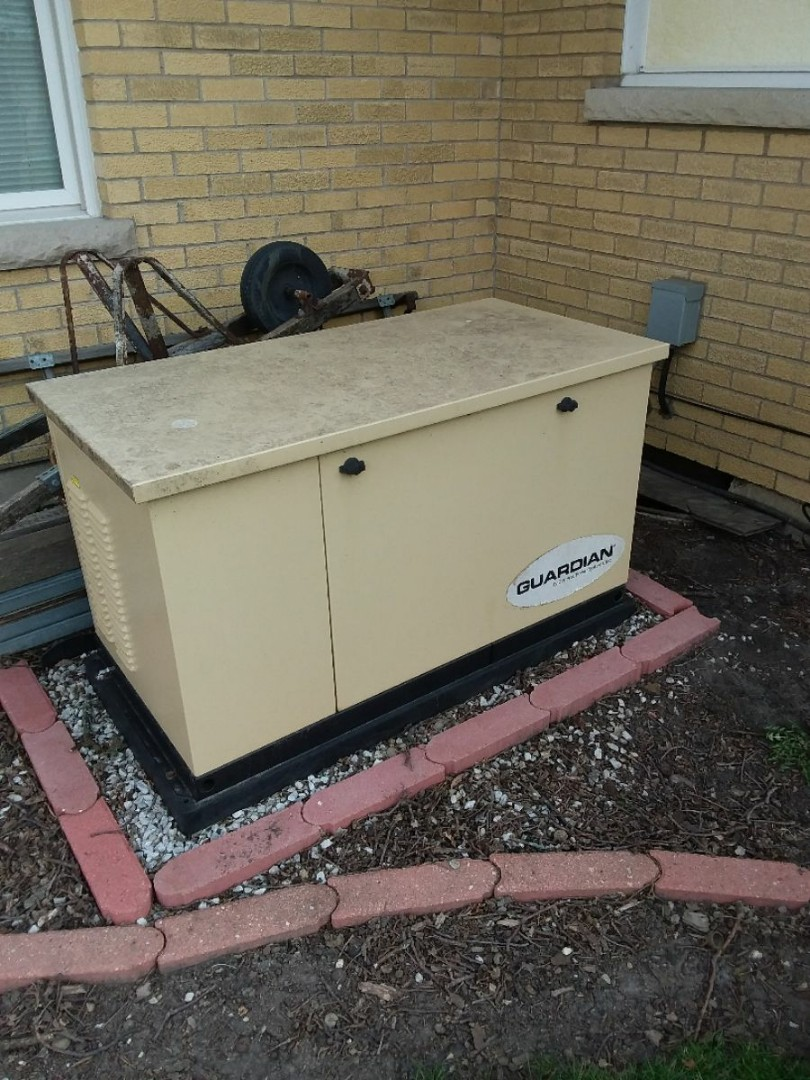 Mokena, IL - Installing new generator replacing old gaurdian
