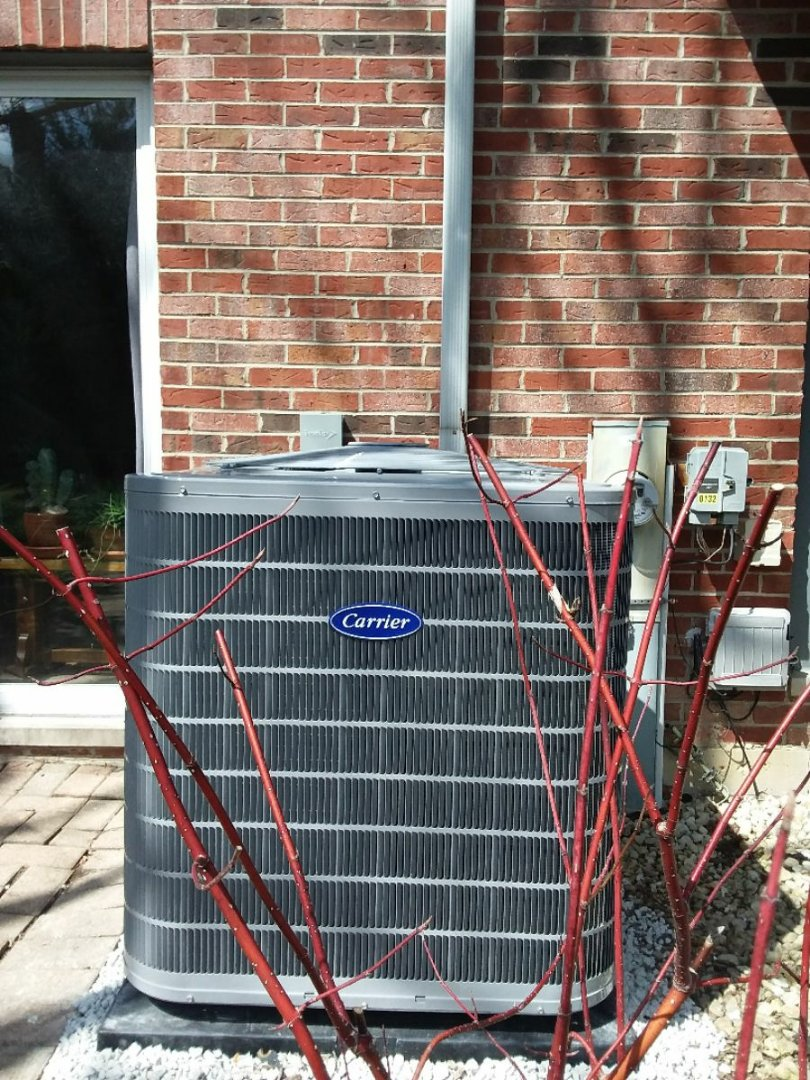 Burr Ridge, IL - Installation of carrier air conditioner