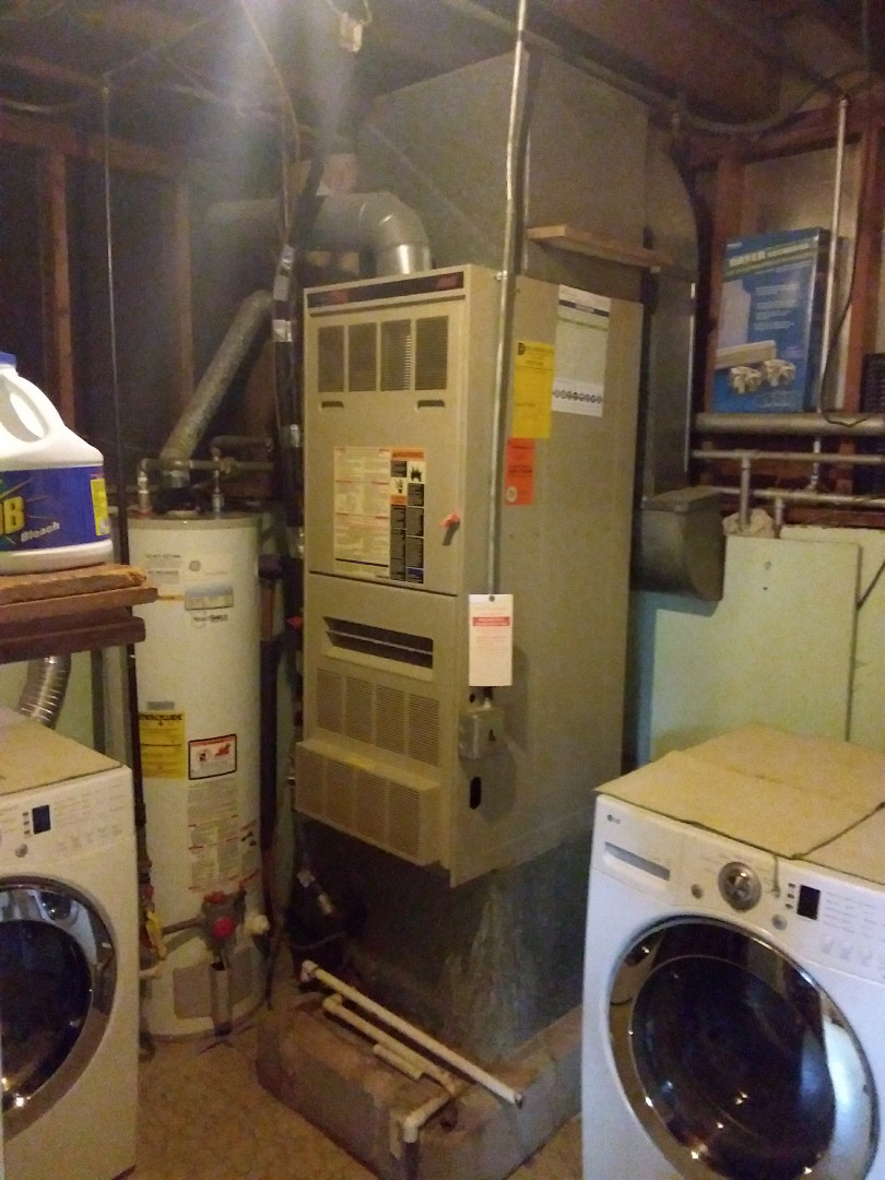 Blue Island, IL - Installation of a carrier furnace replacement of a Lennox furnace