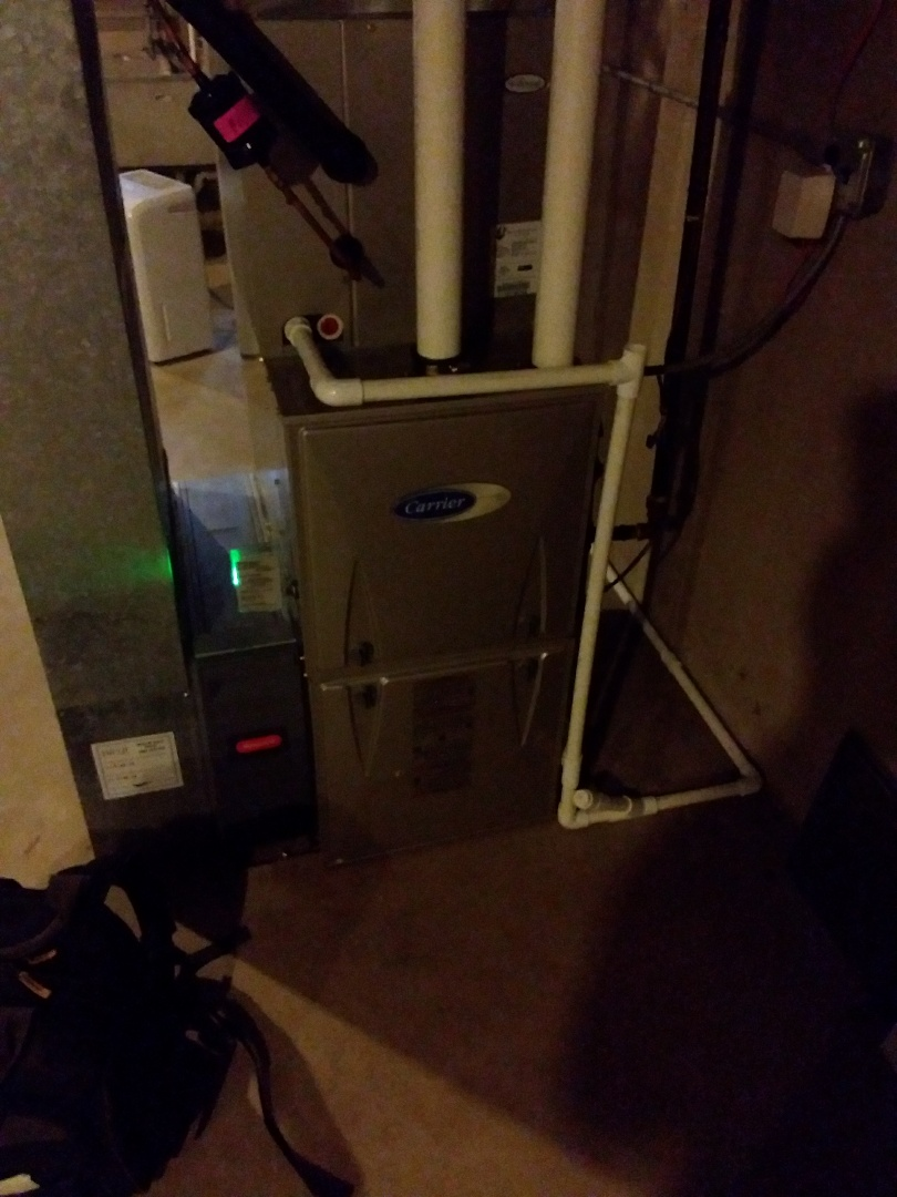 Homewood, IL -  Installed surge protector on Carrier Furnace