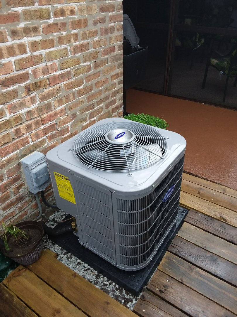 Melrose Park, IL - Replacement of a.c. installation of carrier condenser/ac