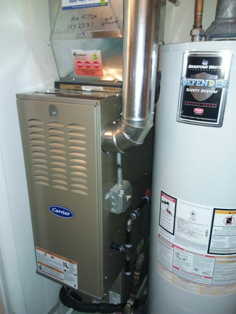 Wheeling, IL - Installation of a carrier furnace and carrier a.c. system