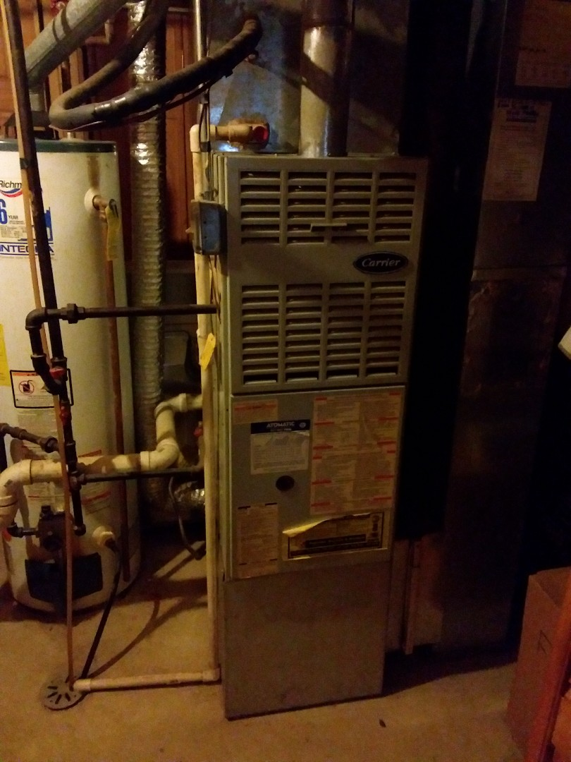 Plainfield, IL - Installation of a carrier furnace and a.c. condenser replacement of a carrier