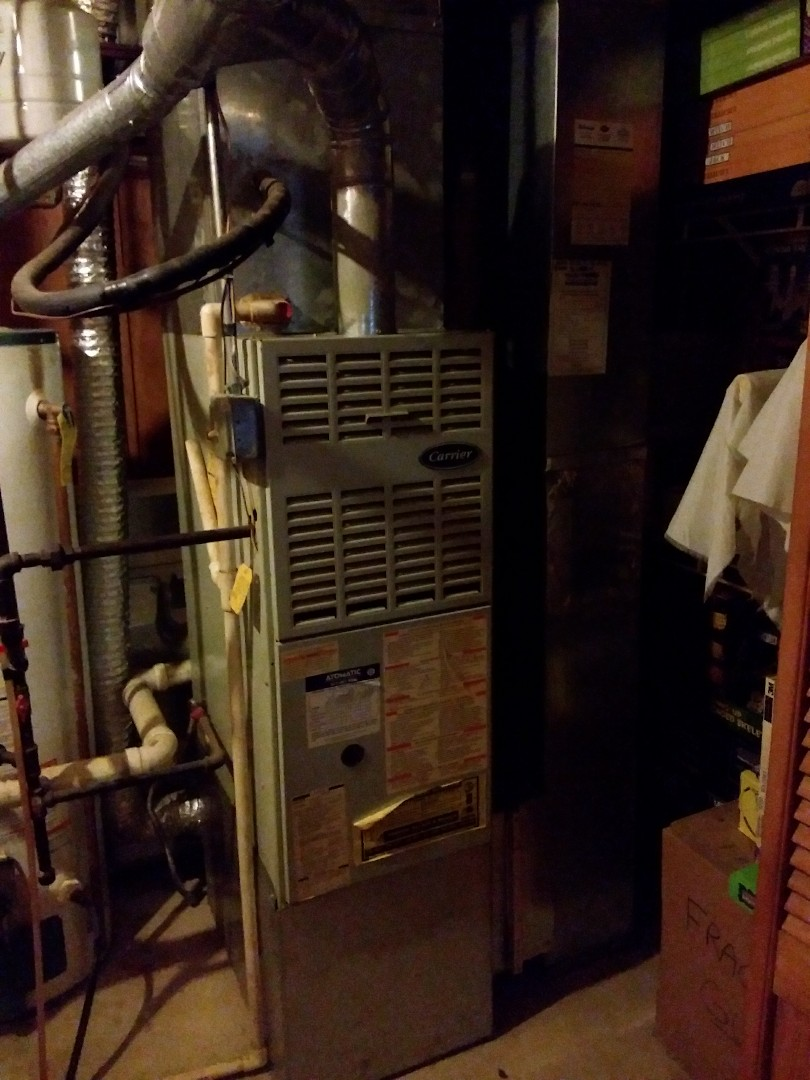 Plainfield, IL - Carrier furnace and air conditioning system installation