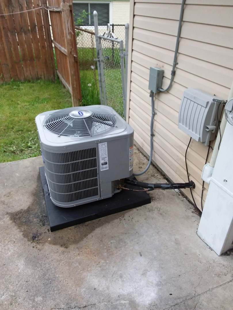 Carrier air conditioning system installation