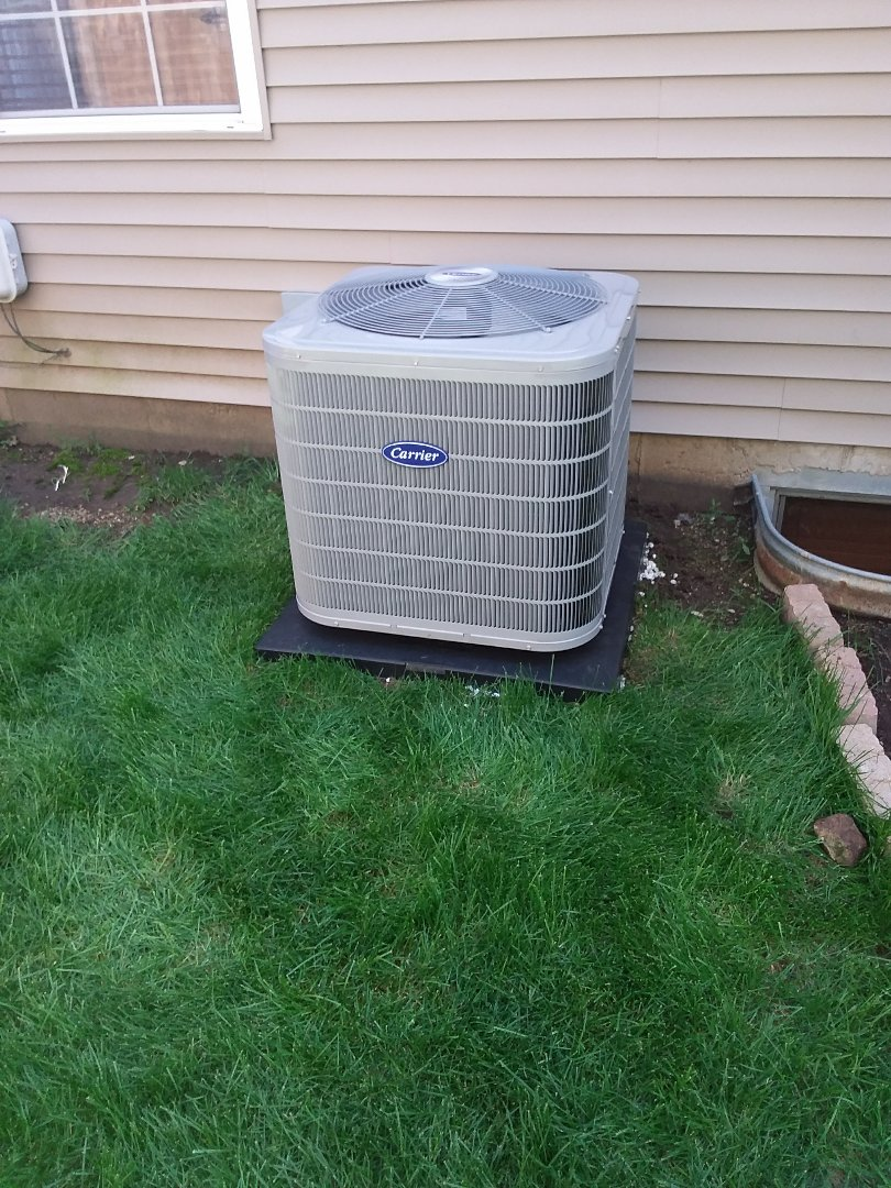 Romeoville, IL - Carrier air conditioning system installation
