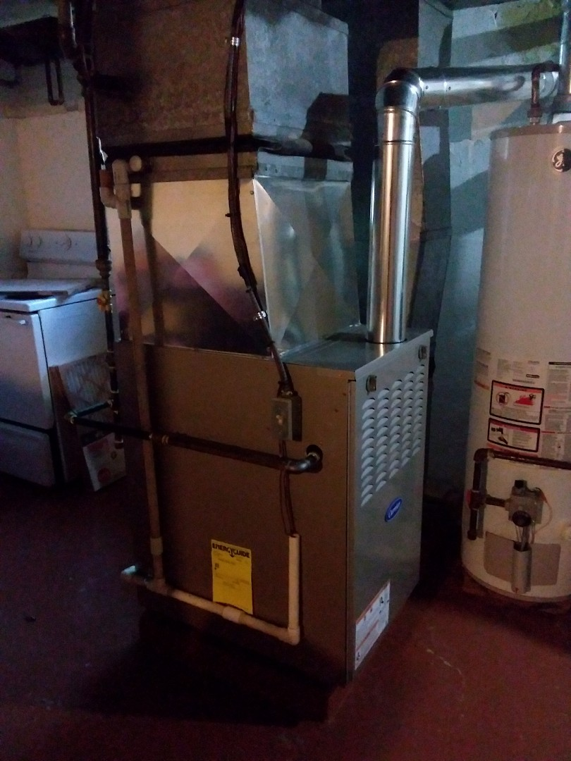 Bensenville, IL - Installation of a carrier furnace.