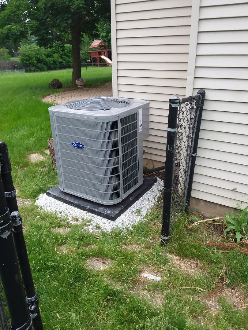 Naperville, IL - Carrier air conditioning system installation