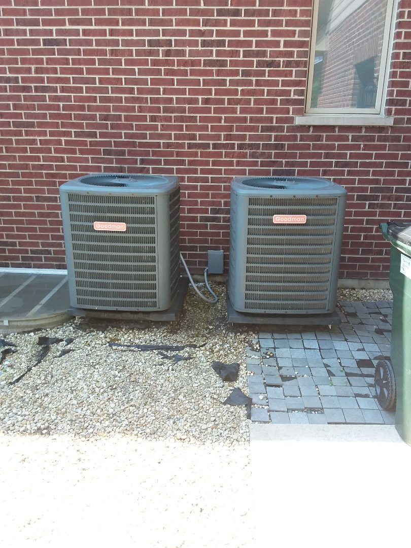 New Lenox, IL - Maintaining two Goodman AC units