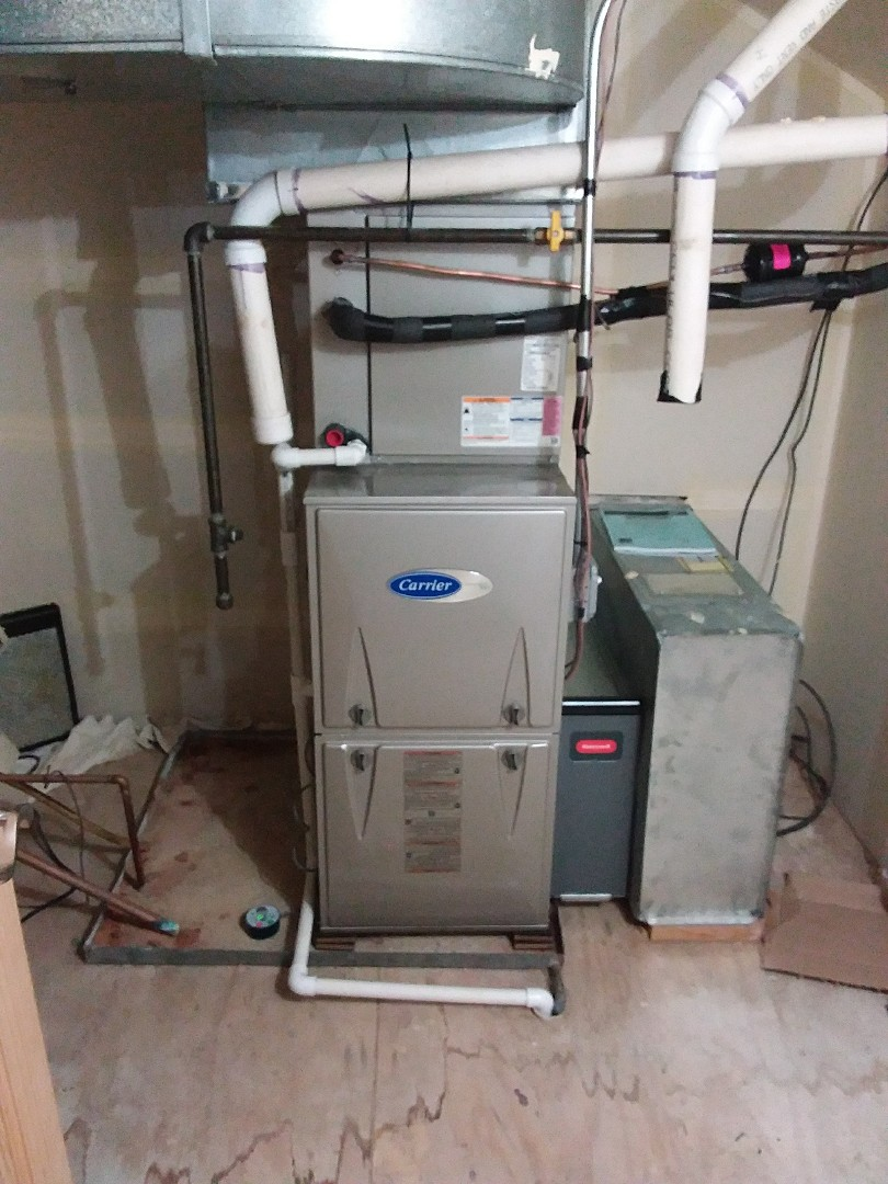 Park Ridge, IL - Installation of new carrier furnace replacing old carrier furnace