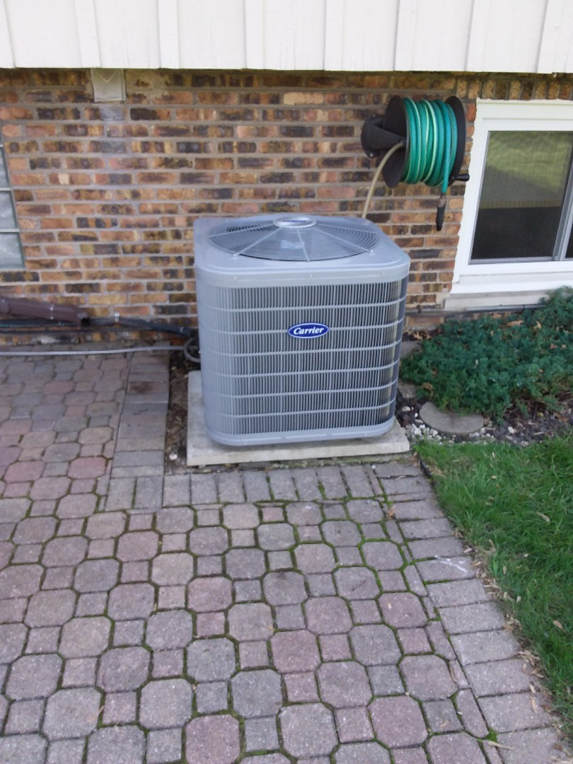 Installation of a CARRIER condenser and ac coil and furnace