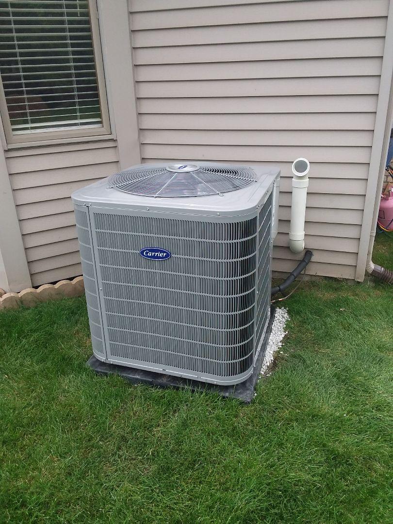 Naperville, IL - Carrier air conditioner installation
