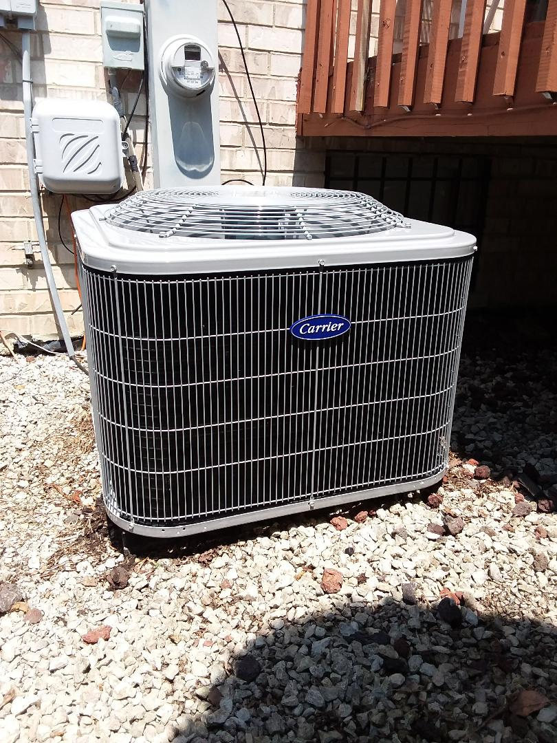 Tinley Park, IL - Carrier Air Conditioner installation