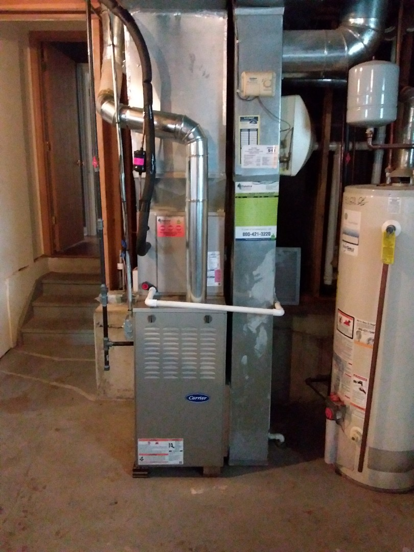 Calumet City, IL - Carrier furnace and air conditioning system installation