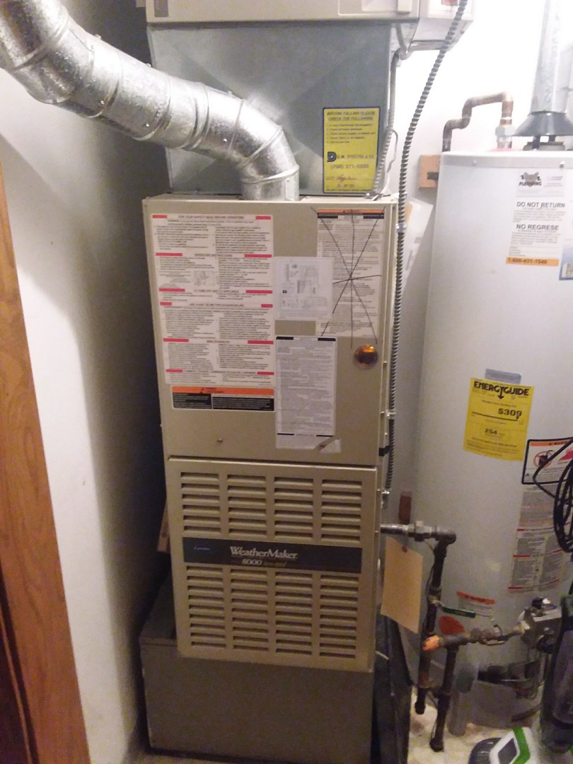 Willow Springs, IL - Installation of carrier furnace replace old carrier furnace