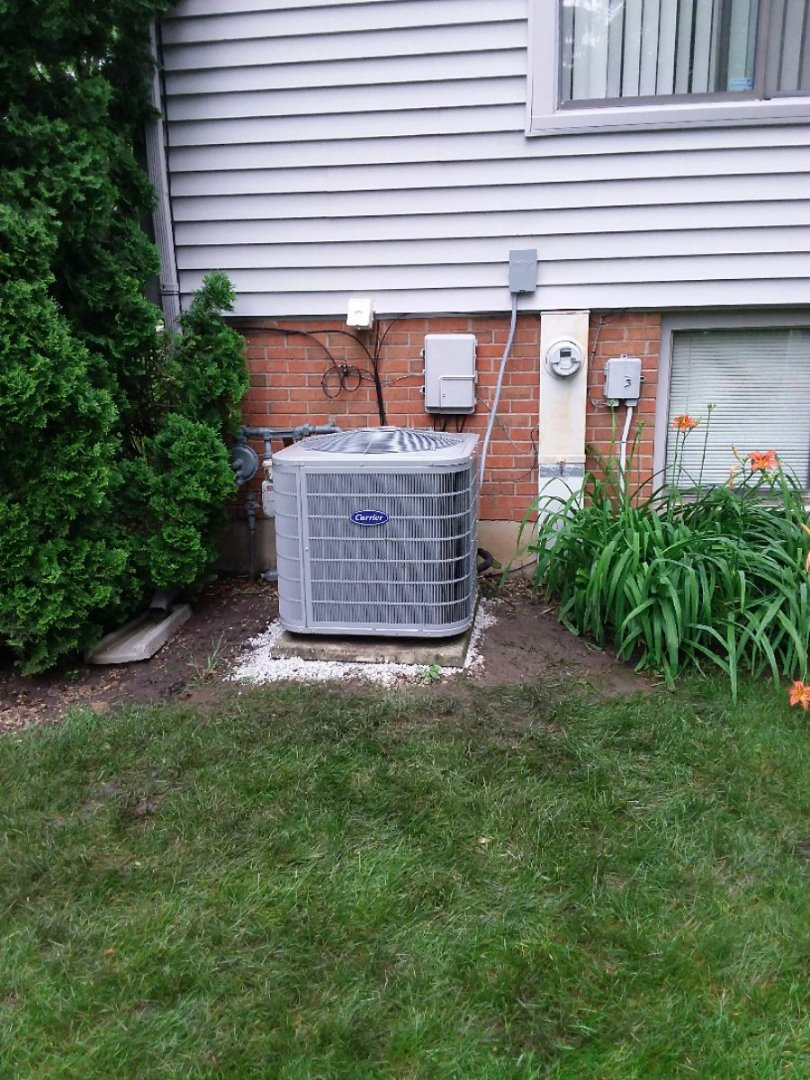 Hazel Crest, IL - Carrier air conditioning system installation