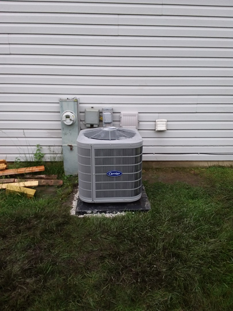 Schaumburg, IL - Installation of carrier air conditioner