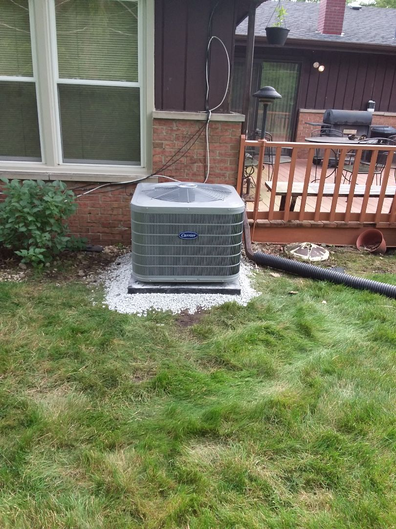 Homewood, IL - Carrier air conditioner installation