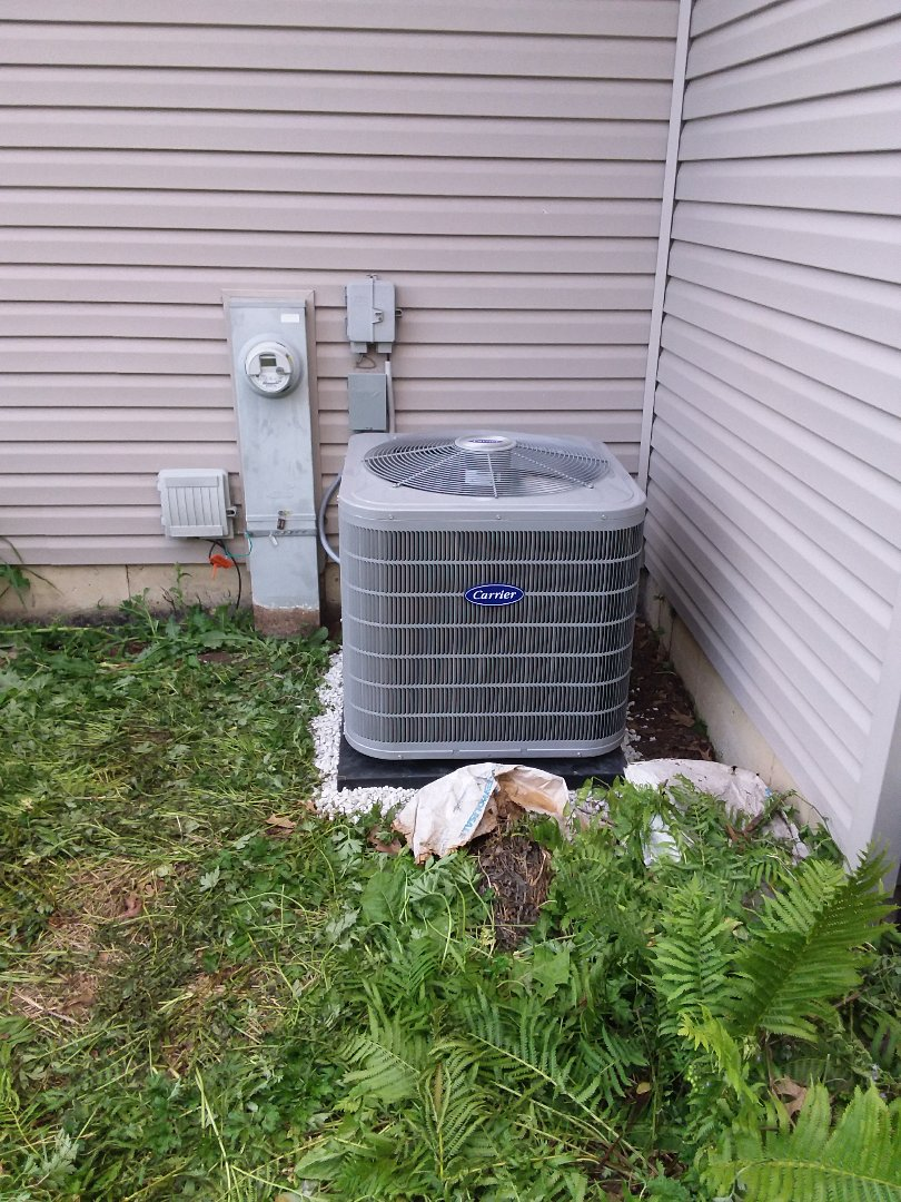 Aurora, IL - Carrier air conditioner installation + Humidifier