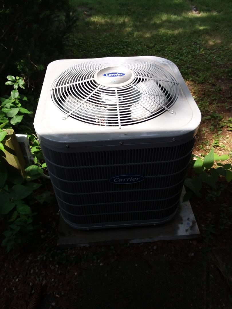 Downers Grove, IL - Clean and check maintenance for Carrier air conditioner