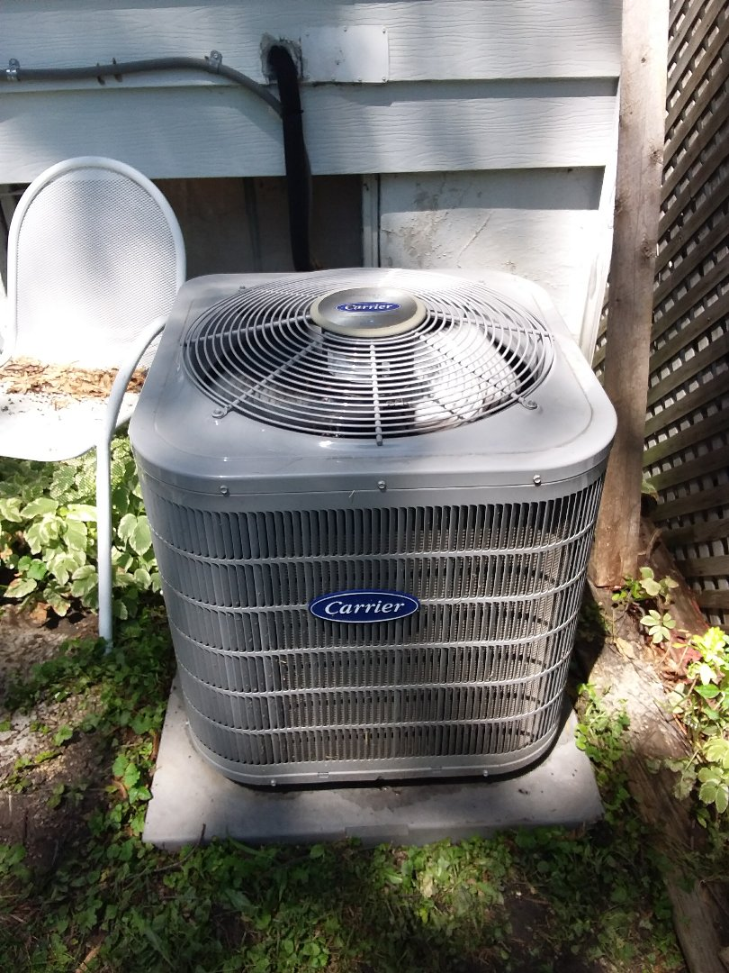 Lombard, IL - Ac maintenance clean and check carrier air conditioner