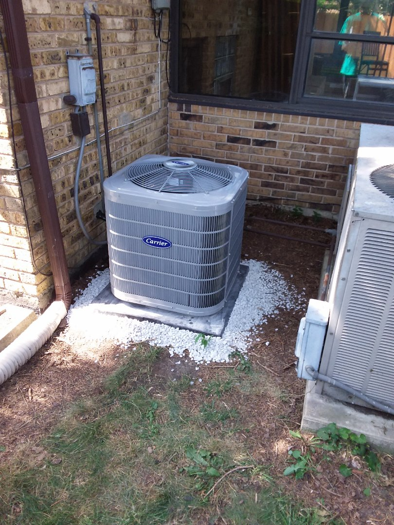 Brookfield, IL - Installation of a carrier condenser a.c.