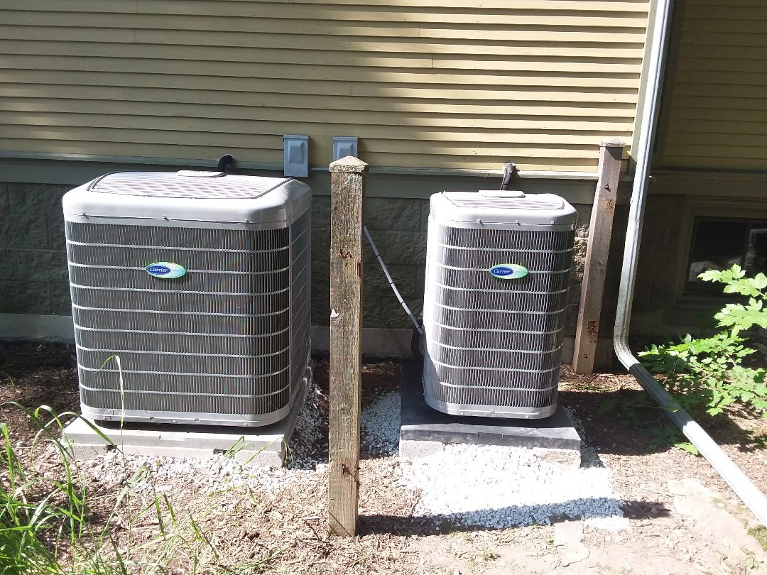 Oak Park, IL - Installation of carrier air conditioner